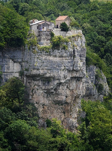 Monk Lives In the Church On Top of the Mountain