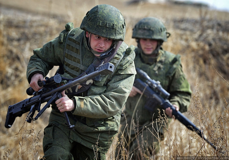 another drill of a russian air assault brigade english