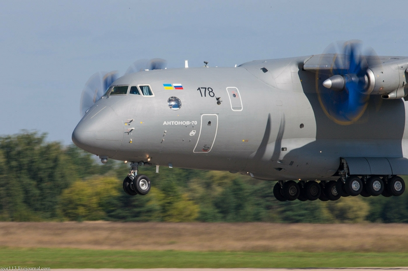 Military And Transport Plane An 70