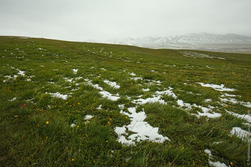 Mid Summer Snow in the Mountains