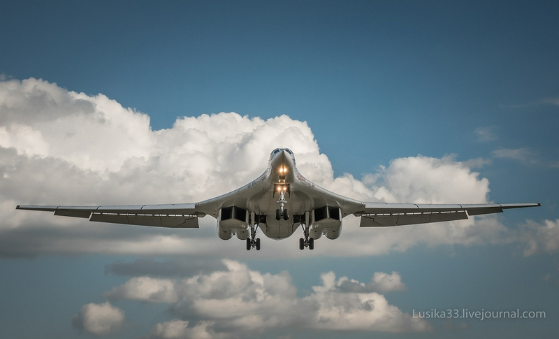 Strategic Bomber Tu 160 Up In the Sky
