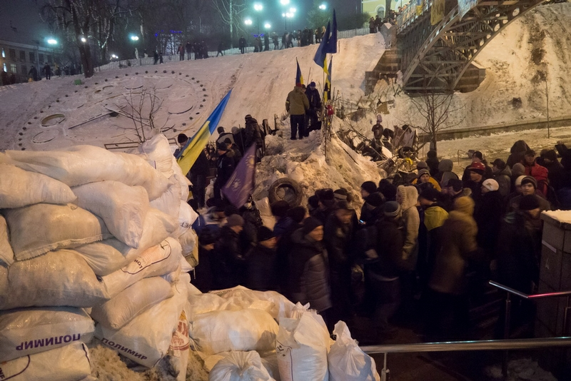 Barricades In the Centre of Kiev
