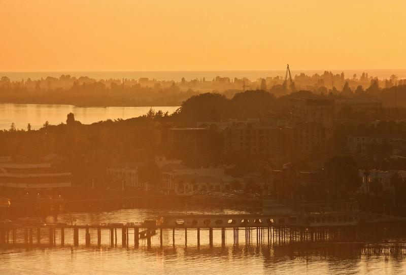Enjoying Sunset At the Black Sea