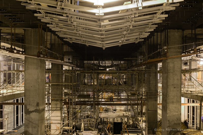 Construction of the New Moscow Subway Station