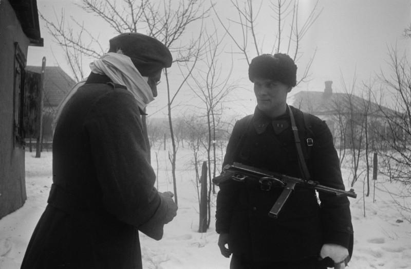 Russian And German Soldiers Taken Prisoner