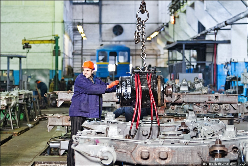 Subway Car Repair Plant In Kiev