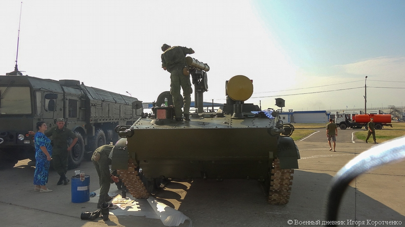 Exhibition of Russian Modern Military Equipment