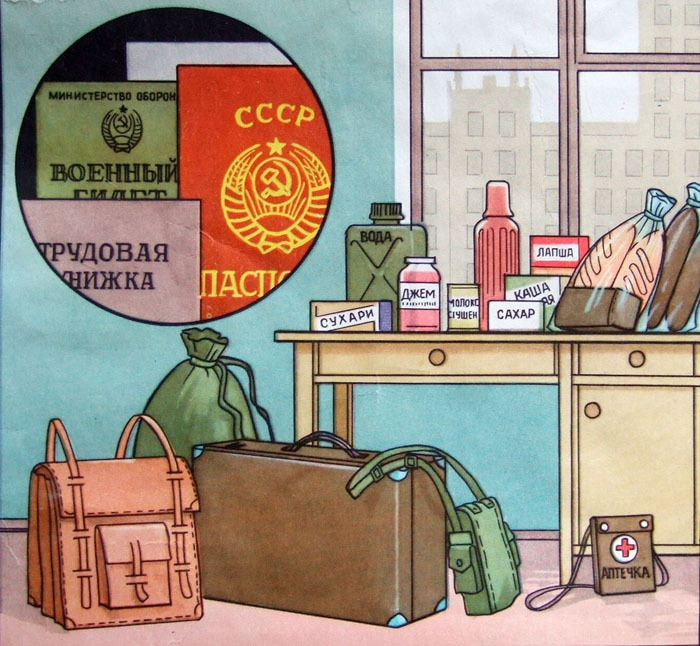 Soviet Civil Defence Posters