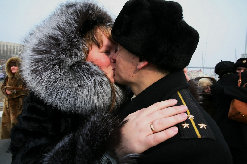 Russian Cruiser Comes Back Home