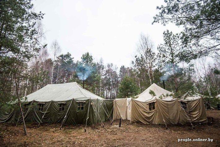 In the Belorussian Field Camp