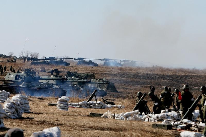 Primorye Artillery Drill