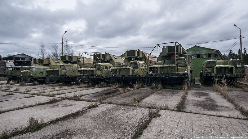 Missile Trucks Scattered In the Forest