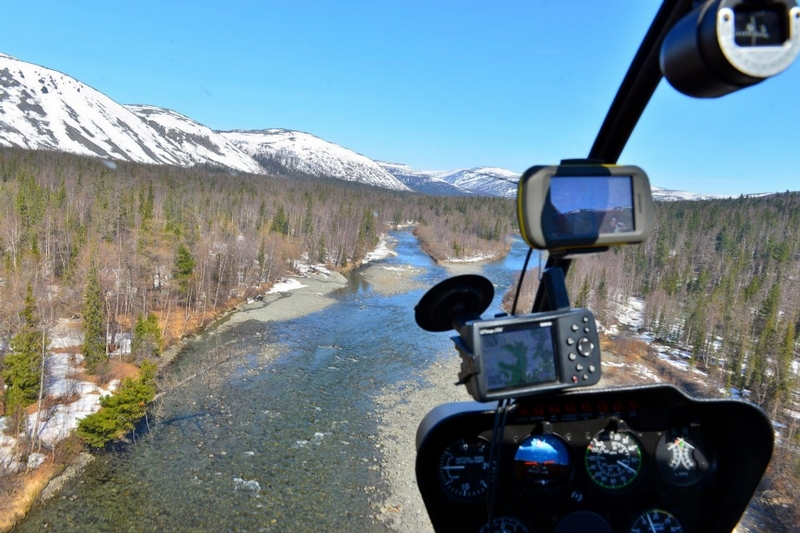 One Day At Near Polar Ural: Helicopter Flight For Fishing