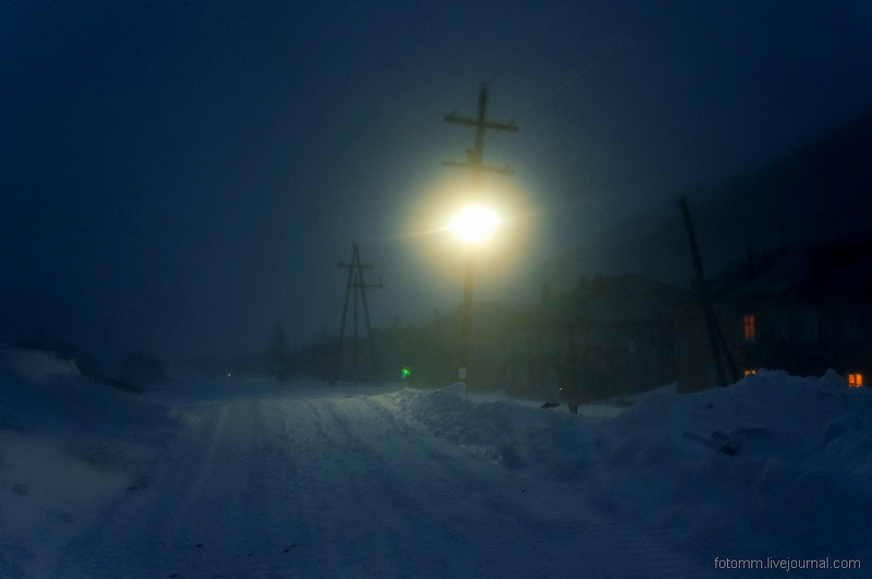 Siberian Winter in the Settlement of Gold Workers
