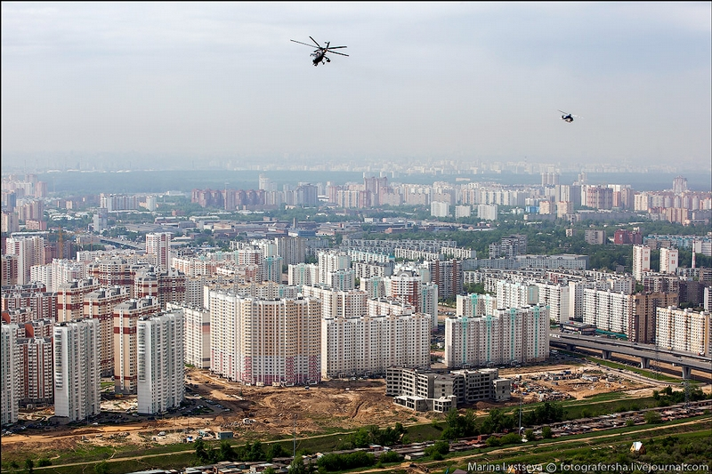 Helicopters Over Moscow