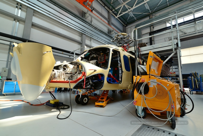 At the Moscow Helicopter Factory