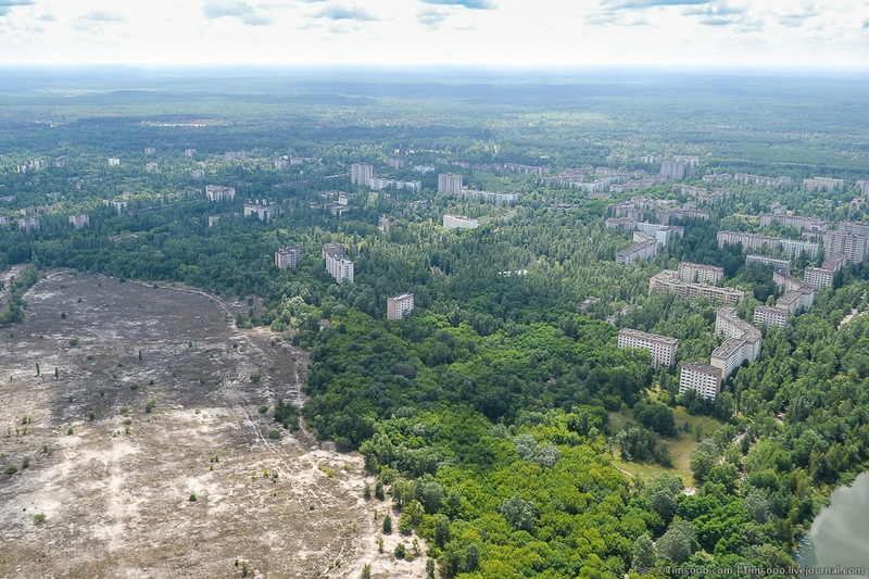 Chernobyl Exclusion Zone From Above