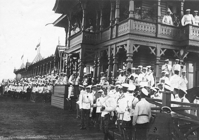 Nicholas II at Horce Race For Officers, 1906