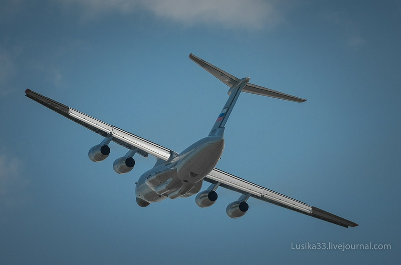 Heavy Military Transport Aircraft Il 76 MD 90A