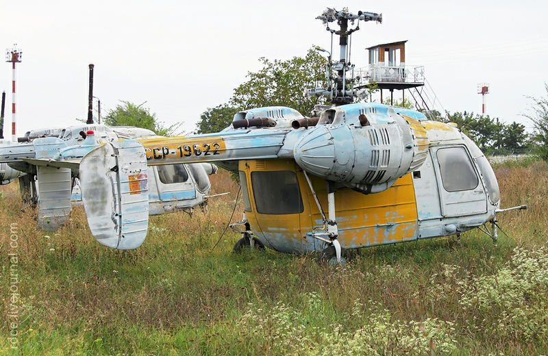 Small Cemetery of Ka-26 Helicopters