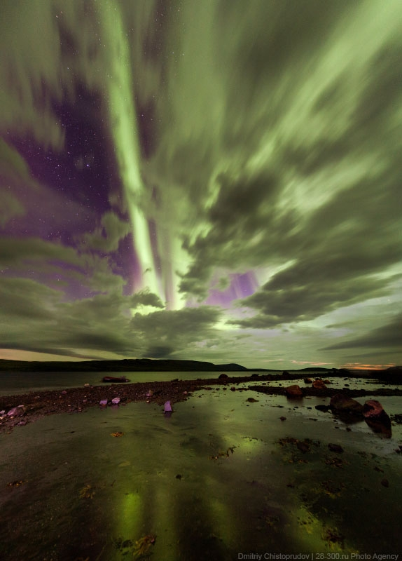 Autumn Northern Lights Over Kola Peninsula