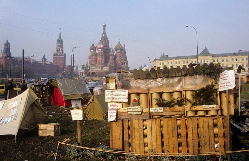 Tent Camps At the Kremlin Walls