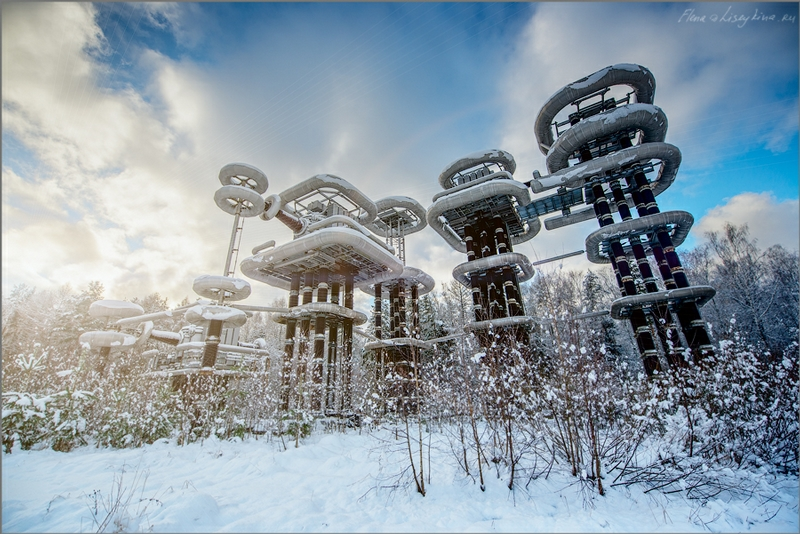 Industrial Winter Landscapes: Lightning Generators