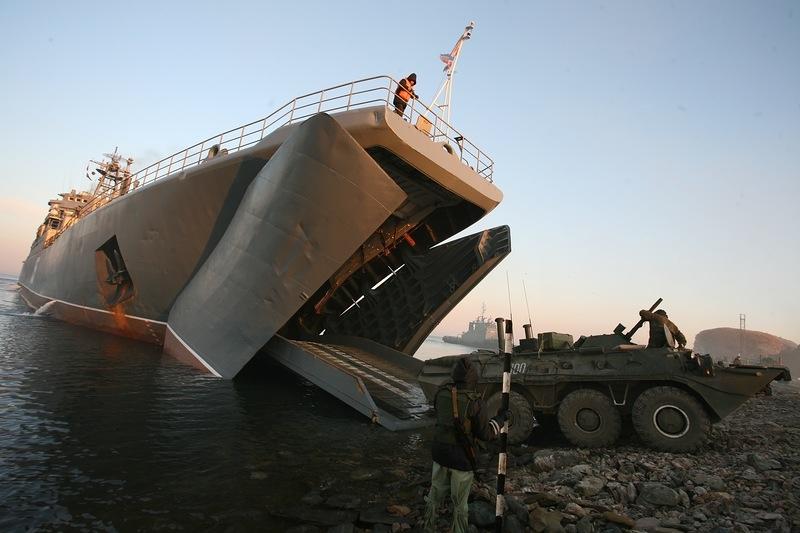 Russian Marines In Training