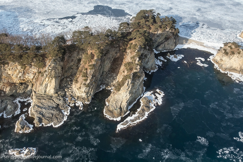 Far Eastern Marine Nature Reserve From the Air