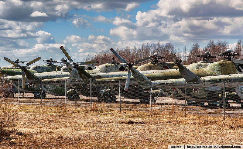 Resting Helicopters