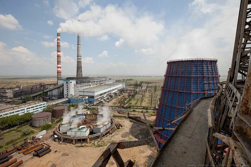 Kazakh Water Cooling Towers: Morning In the Hyperboloid