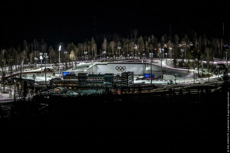 In the Heart of Olympic Sochi At Night
