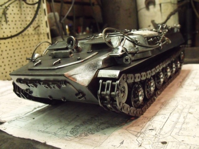 Nice Metal Model of an Armoured Vehicle