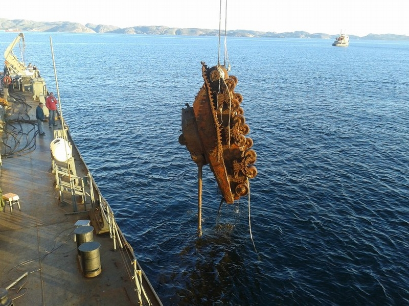 Tank Lifted From the Bottom of the Barents Sea
