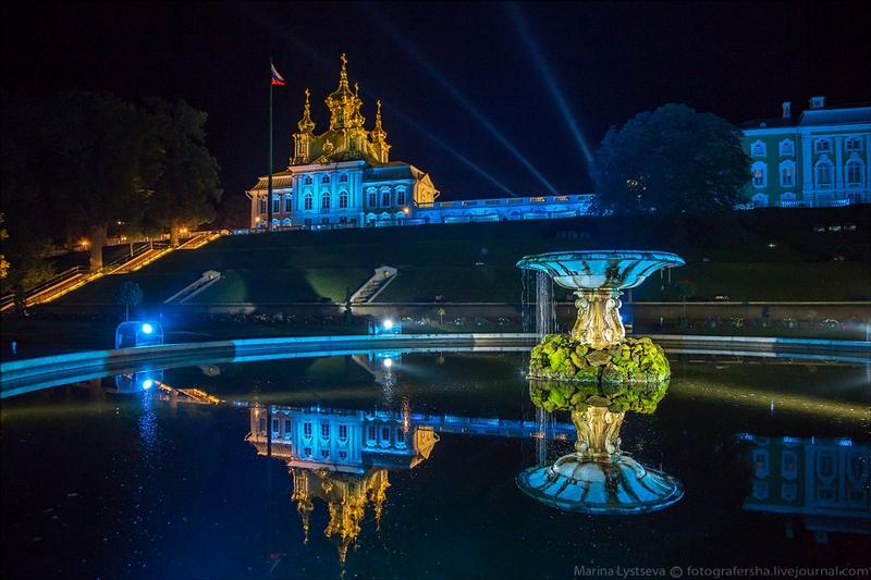 The Peterhof Palace At Night