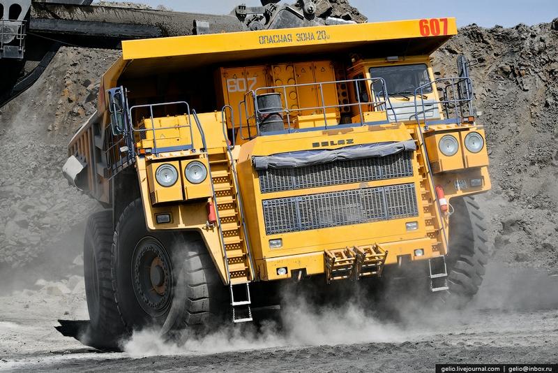 Large Russian Opencast Coal Mine