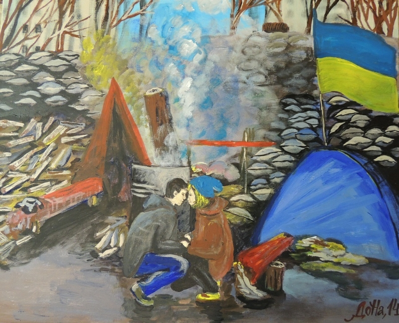 Ukrainian Revolution On Paintings
