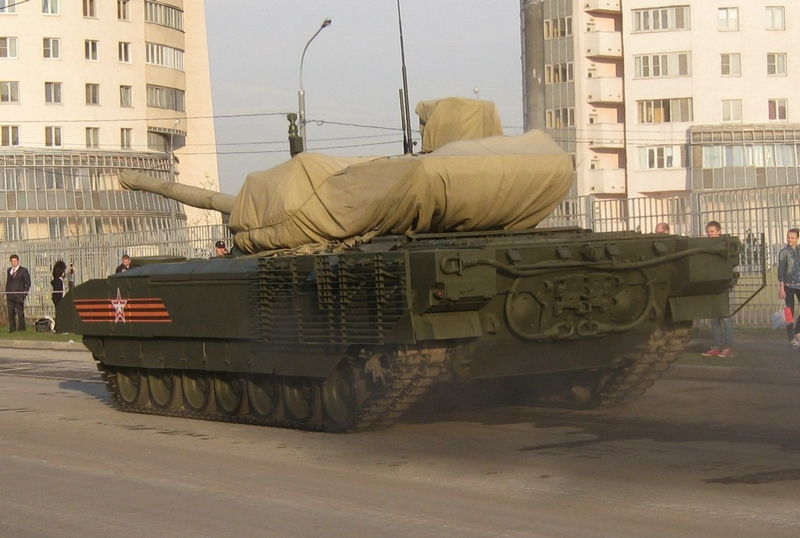Parade Vehicles on Moscow Streets