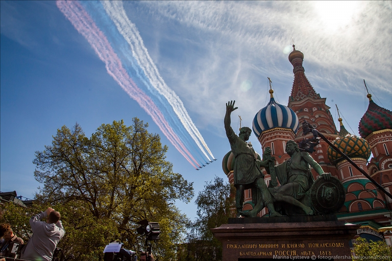 Shooting the Parade from Red Square