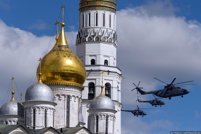 Air Parade Over Moscow: the Main Rehearsal