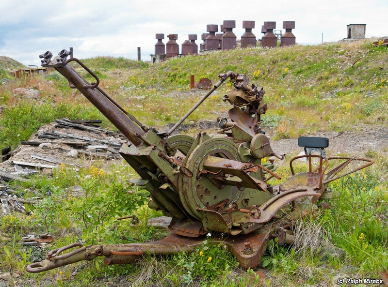 One Northern Island And Remains of the Military Equipment