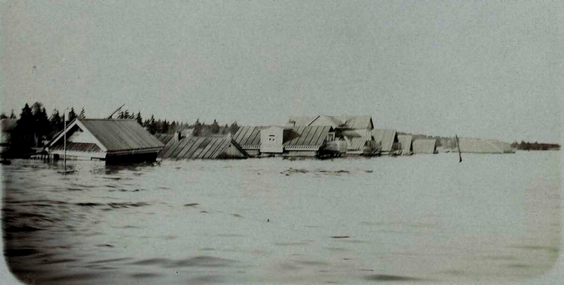 Flood In a Russian City Perm, 1914