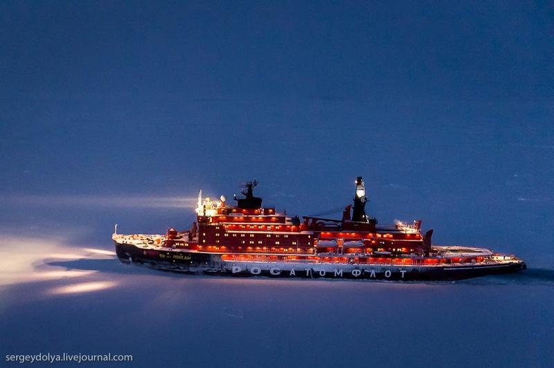 Polar Night of a Russian Ice Breaker