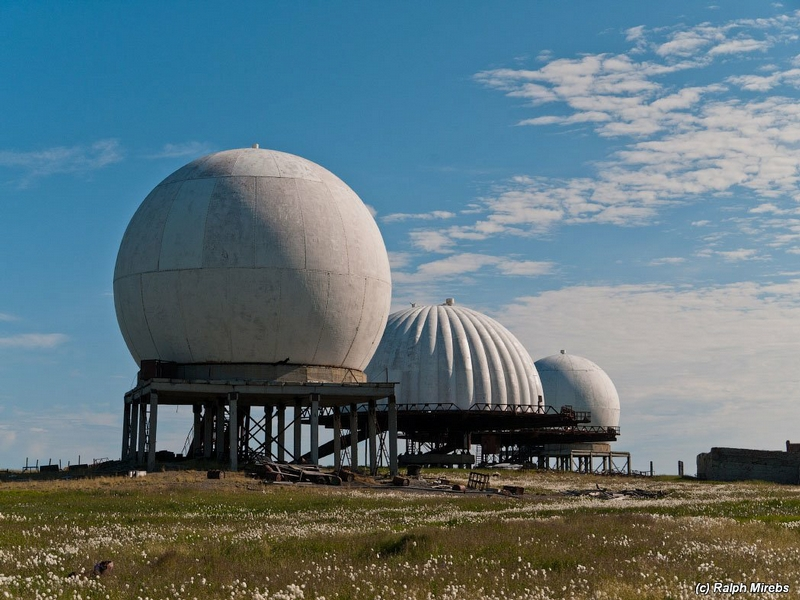 Abanoned Radar Domes And Stations