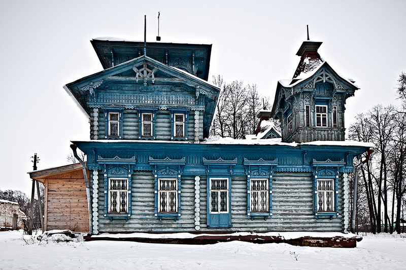 Russian Huts of Early 1900s