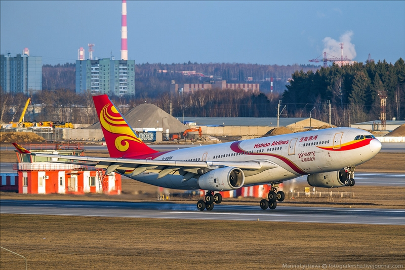 Photographing Aircraft In the Sheremetyevo Airport of Moscow