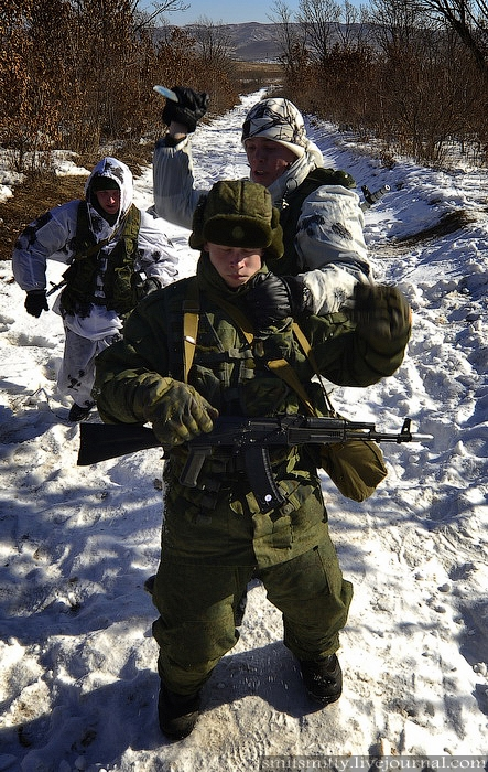Russian Scouts Practice Their Skills