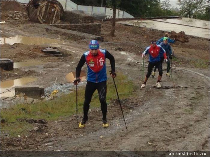 Russian Biathlets Training