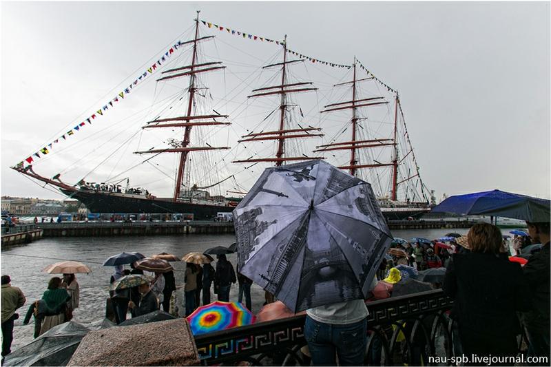 Sailing Ship Sedov In Saint Petersburg