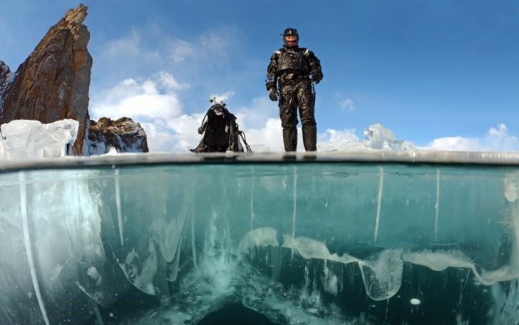 Getting Under the Ice of Baikal at -20C
